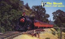 tra006773 - The Skunk, Fort Bragg, CA USA Train Railroad Station Depot Postcards Post Cards