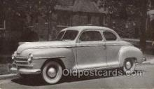 tra007046 - 1948 Plymouth Club Coupe Automotive, Autos, Cards Old Vintage Antique Postcard Post Card