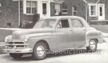 tra007069 - 1950 Plymouth Special Deluxe 4 Door Sedan Automotive, Autos, Cards Old Vintage Antique Postcard Post Card