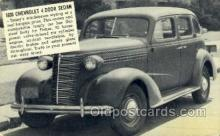 tra007089 - 1938 Chevrolet 4 Door Sedan Automotive, Autos, Cards Old Vintage Antique Postcard Post Card