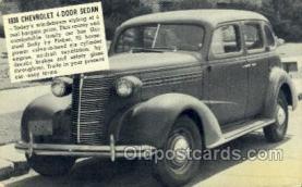 tra007089 - 1938 Chevrolet 4 Door Sedan Automotive, Autos, Cards Old Vintage Antique Postcard Post Card