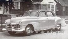 tra007091 - 1950 Chrysler Windsor 4 Door Sedan Automotive, Autos, Cards Old Vintage Antique Postcard Post Card