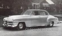 tra007093 - 1951 Chrysler Windsor 4 Door Sedan Automotive, Autos, Cards Old Vintage Antique Postcard Post Card