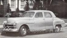 tra007094 - 1950 Plymouth Deluxe 4 Door Sedan Automotive, Autos, Cards Old Vintage Antique Postcard Post Card