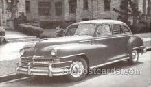 tra007096 - 1948 Chrysler Windsor 4 Door Sedan Automotive, Autos, Cards Old Vintage Antique Postcard Post Card