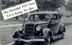 tra007098 - 1935 Ford V-8 Automotive, Autos, Cards Old Vintage Antique Postcard Post Card