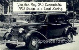 tra007099 - 1935 Doge Automotive, Autos, Cards Old Vintage Antique Postcard Post Card
