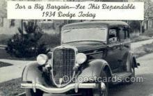 tra007100 - 1934 Dodge Automotive, Autos, Cards Old Vintage Antique Postcard Post Card