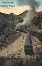 trn001025 - Cripple Creek Shore Line, CO, USA Train Trains, Postcard Postcards