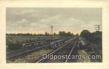 trn001068 - Double Tracks And Stone Ballast Trains, Railroads Postcard Post Card Old Vintage Antique