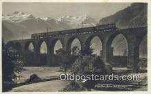 trn001074 - Lotschbergbahn ei Frutigen Trains, Railroads Postcard Post Card Old Vintage Antique