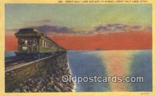 trn001084 - Great Salt Lake Cut Off, Utah, UT USA Trains, Railroads Postcard Post Card Old Vintage Antique