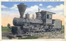trn001095 - Old Locomotive Relic Of Logging Days, Traverse City, Michigan, MI USA Trains, Railroads Postcard Post Card Old Vintage Antique