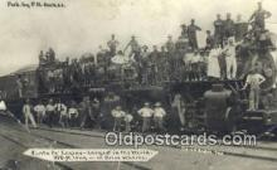 trn001101 - Santa Fe Engine, California, CA USA Trains, Railroads Postcard Post Card Old Vintage Antique