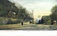trn001133 - The Crossing, Boston, Massachusetts, MA USA Trains, Railroads Postcard Post Card Old Vintage Antique