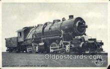 trn001138 - 2400 Largest Locomotive In The World Trains, Railroads Postcard Post Card Old Vintage Antique