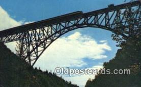 trn001140 - Hurricane Gulch Bridge Trains, Railroads Postcard Post Card Old Vintage Antique