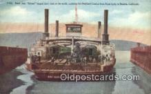 trn001147 - Ferry Boat Solano, Belcia, California, CA USA Trains, Railroads Postcard Post Card Old Vintage Antique