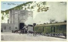 trn001156 - 2EAst Portal Moffat Tunnel, Colorado, CO USA Trains, Railroads Postcard Post Card Old Vintage Antique