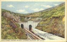 trn001165 - Raton Tunnels, Trinidad, Colorado, CO USA Trains, Railroads Postcard Post Card Old Vintage Antique