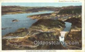 trn001170 - Boulder Dam And Portion Of Lake Mead, Boulder City, Nevada, NV USA Trains, Railroads Postcard Post Card Old Vintage Antique