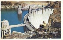 trn001171 - Massive Hoover Dam On The Colorado River, Los Angeles, California, CA USA Trains, Railroads Postcard Post Card Old Vintage Antique