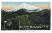 trn001175 - Mount Hood From Sandy River, Oregon, OR USA Trains, Railroads Postcard Post Card Old Vintage Antique
