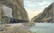 trn001179 - Sheep Canyon, Big Horn River, USA Trains, Railroads Postcard Post Card Old Vintage Antique
