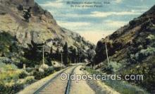 trn001181 - The Narrows Weber Canon, Utah, Union Pacific System, Utah, UT USA Trains, Railroads Postcard Post Card Old Vintage Antique