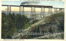 trn001182 - Steel Viaduct Over Lawyers Canyon, Camas Prairie Railroad, Idaho, ID USA Trains, Railroads Postcard Post Card Old Vintage Antique