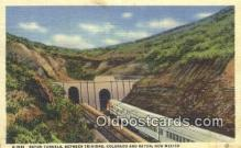 trn001183 - Raton Tunnels, Trinidad, Colorado, CO USA Trains, Railroads Postcard Post Card Old Vintage Antique