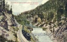 trn001186 - The Overland Limited Near Floriston California, CA USA Trains, Railroads Postcard Post Card Old Vintage Antique