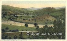 trn001205 - Tehachpi Pass And Loop, California, CA USA Trains, Railroads Postcard Post Card Old Vintage Antique
