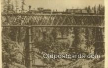 trn001213 - Repro Image - Long Ravine Bridge Trains, Railroads Postcard Post Card Old Vintage Antique