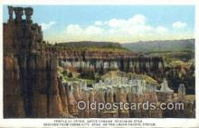 trn001240 - Temple Of Osiris, Bryce Canyon, Utah, UT USA Trains, Railroads Postcard Post Card Old Vintage Antique