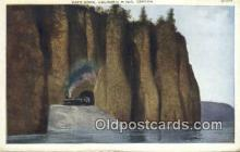 trn001264 - Cape Horn, Columbia River, Oregon, OR USA Trains, Railroads Postcard Post Card Old Vintage Antique