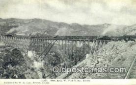 trn001265 - Steel Arch, W.P.& Y.RY. Alaska, AK USA Trains, Railroads Postcard Post Card Old Vintage Antique