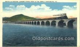 trn001273 - Rockville Bridge, Harrisburg, Pennsylvania, PA USA Trains, Railroads Postcard Post Card Old Vintage Antique