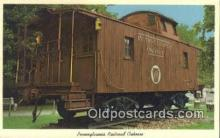trn001274 - Pennsylvania Railroad Caboose Trains, Railroads Postcard Post Card Old Vintage Antique