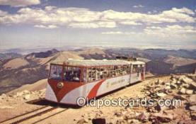 trn001279 - Cog Railroad Pikes Peak, Colorado, CO USA Trains, Railroads Postcard Post Card Old Vintage Antique