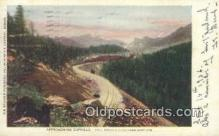 trn001291 - Approaching Duffield, Colorado Springs And Cripple Creek Line, Colorado, CO USA Trains, Railroads Postcard Post Card Old Vintage Antique