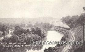 trn001294 - Repro Image River Railroad Canal, Boston, Massachusetts, MA USA Trains, Railroads Postcard Post Card Old Vintage Antique