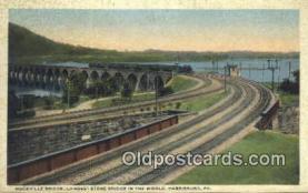 trn001299 - Rockville Bridge, Harrisburg, Pennsylvania, PA USA Trains, Railroads Postcard Post Card Old Vintage Antique