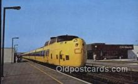 trn001301 - Via CN Turbo, Montreal, Ontario, Canada Trains, Railroads Postcard Post Card Old Vintage Antique