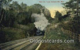 trn001309 - State Line Tunnel, Berkshire Hills, Massachusetts, MA USA Trains, Railroads Postcard Post Card Old Vintage Antique