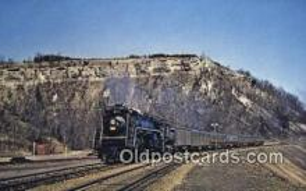 trn001323 - Canadian National U2 Powers West Bound Train, Dudas, Ontario Trains, Railroads Postcard Post Card Old Vintage Antique