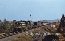 trn001324 - A Pair Of New Ontario Northland RS 2 Units, North Bay, Ontario Trains, Railroads Postcard Post Card Old Vintage Antique