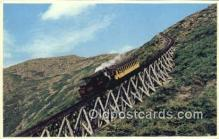 trn001339 - The Famous Cog Railway Mount Washington, White Mountains, New Hampshire, NH USA Trains, Railroads Postcard Post Card Old Vintage Antique