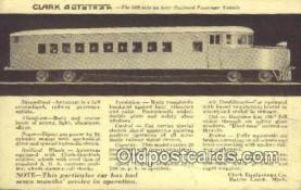 trn001340 - Clark Autotram, Battle Creek, Michigan, MI USA Trains, Railroads Postcard Post Card Old Vintage Antique