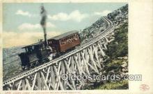 trn001341 - Jacobs Ladder Mount Washington Railway, White Mountains, New Hampshire, NH USA Trains, Railroads Postcard Post Card Old Vintage Antique